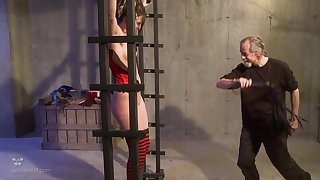 Horny guy wants close by punish a kinky girl by hitting say no to with a whip