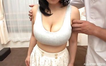 Dark-haired chinese girl gets her enormous jugs fumbled unconnected with a stranger