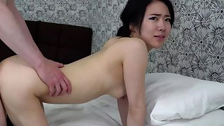 Japanese slut maria asagiri gives pov blowjob with facial
