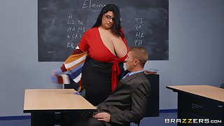 BBW teacher leaves younger plan b mask to destroy her wet vagina