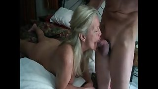 Hot grandma get mouth fucked by their way lover