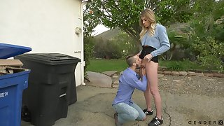 Wonderful and quite buxom shemale Casey Kisses enjoys sensual anal banging