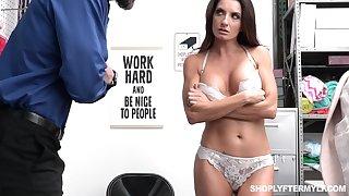 Shoplifting milf Silvia Saige gets punished apt likelihood future