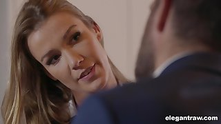 Sexy business lady with a big ass fucks to secure a contract