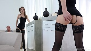 Sweet awaiting girl Stasia Si is sexual relations with her station fetish boyfriend