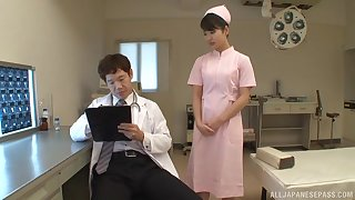 Deviant having it away between doctor and sexy Japanese nurse Aoi Mizutani