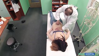 Young patient feels perfect while being fucked and jizzed