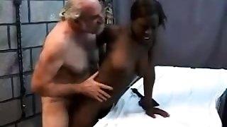 Teen stepdaughter interracial doggystyle with treacherous stepdad