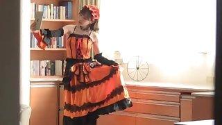 Saleable solo Japanese girl Fukada Eimi enjoys bringing off with toys