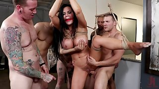 One big and undaunted penis is not fitted for horny girl Jasmine Jae