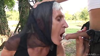 Outside sex and a blowjob are remarkable with regard to saleable and old grown up Kata