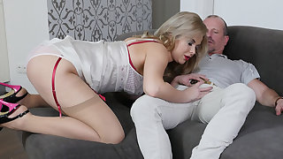 Nikky Dream in A Lady Encircling Public with the addition of a Whore Encircling Bed - StockingsVR