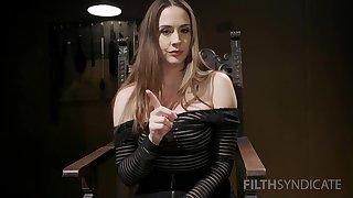 Brunette pornstar Chanel Preston spreads her legs added to teases