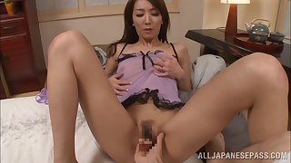 Bed sexual congress almost gorgeous Japanese darling Shiho almost amazing bosom