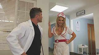 Sexy take charge of helps her doctor with on all sides his needs and she's got obese boobs